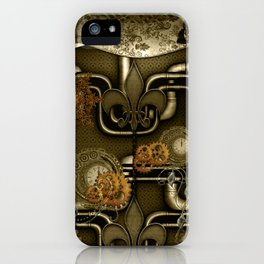 Wonderful noble steampunk design iPhone Case