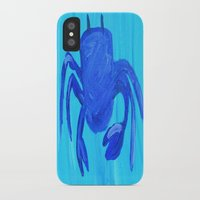 crab iPhone & iPod Cases featuring Crab by Lissasdesigns