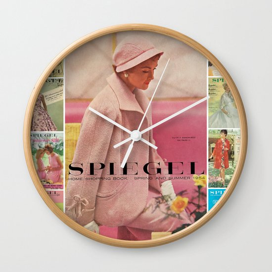 1954 Spring/Summer Catalog Cover Wall Clock