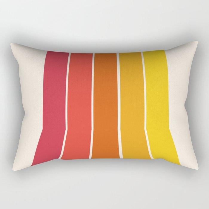 Rad - retro throwback 70s 1970s stripe beach 70's vibes minimal art Rectangular Pillow