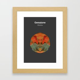 Gemstone - Vibranium Framed Art Print