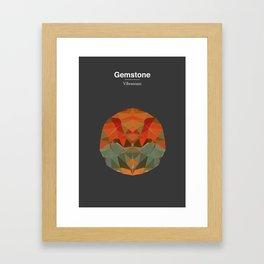 Gemstone - Vibranium Framed Art Print