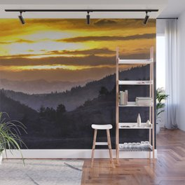 Valley Sunset Wall Mural
