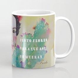 frida y las flores Coffee Mug