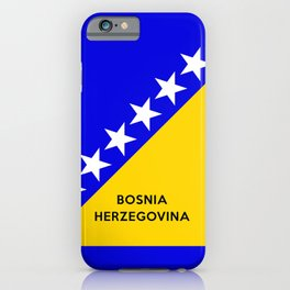 Bosnia and Herzegovina country flag name text iPhone Case
