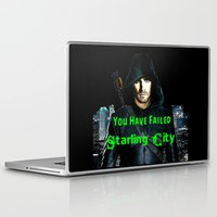green arrow Laptop & iPad Skins featuring Arrow by SwanniePhotoArt