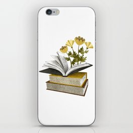 floral reading iv iPhone Skin