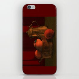 Still life with peaches iPhone Skin