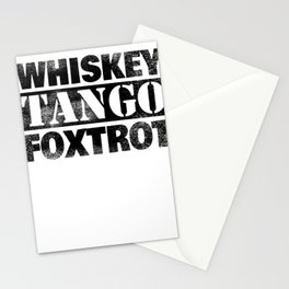 WTF Whiskey Tango Foxtrot What the Fuck Gift Stationery Cards