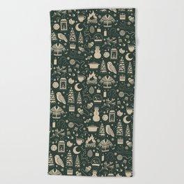 Winter Nights: Forest Beach Towel