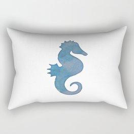 Watercolor Seahorse by Lo Lah Studio Rectangular Pillow
