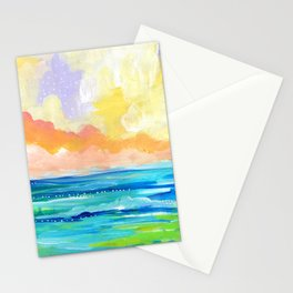 Abstract Seascape I Stationery Cards