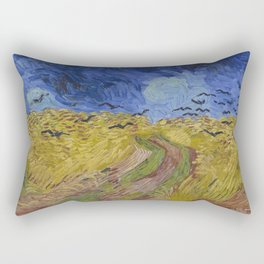 Vincent Van Gogh - Wheat Field with Crows, 1890 Rectangular Pillow