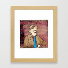 JAMES JOYCE ILLUSTRATION Framed Art Print