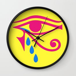 Eye of Horus Tears Wall Clock
