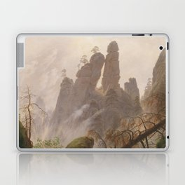 Caspar David Friedrich - Rocky Lanscape in the Elbe Sandstone Mountains Laptop & iPad Skin