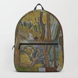 Vincent van Gogh - The Garden of Saint Paul's Hospital ('Leaf-Fall') (1889) Backpack
