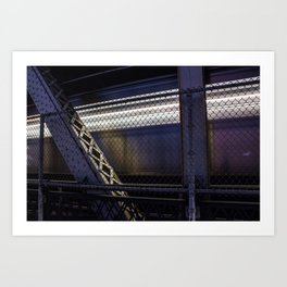 Q Train at Night Art Print