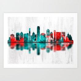 Brescia Italy Skyline Art Print