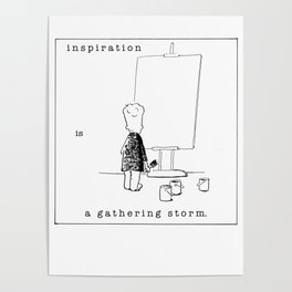 inspiration is a gathering storm Poster
