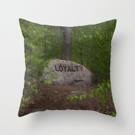 Loyalty Rock Babson Boulder #8 Throw Pillow