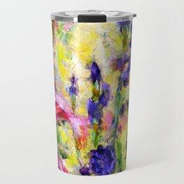 Purple Iris Garden Travel Mug