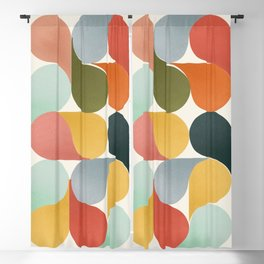 Shapes of color - abstract Blackout Curtain