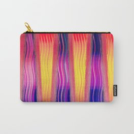 Hot Color Waves Carry-All Pouch