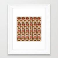 onesie Framed Art Prints featuring Onesie by ziggystardust90