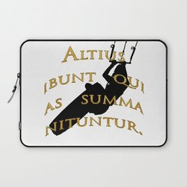 KiteSurf Freestyle They Will Rise Highest Who Strive High Laptop Sleeve