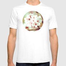 Cherry Blossom Flowers Mens Fitted Tee MEDIUM White
