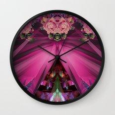 Crystal Blooms Wall Clock