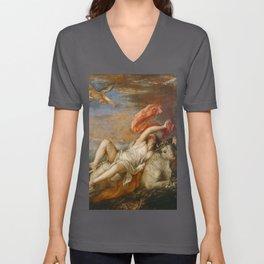 The Rape of Europa (Titian) Unisex V-Neck