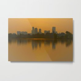 Come Sit With Me At Sloan Lake Downton Denver Colorado Metal Print