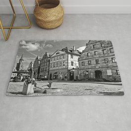 The Green Market Rug