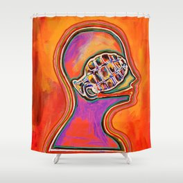 Vocal Grenade Shower Curtain