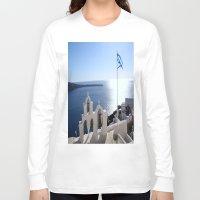 greece Long Sleeve T-shirts featuring Greece by Shine Like Sunbeams