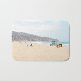 Redondo Beach // California Ocean Vibes Lifeguard Hut Surfing Sandy Beaches Summer Tanning Bath Mat