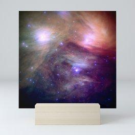 Galaxy : Pleiades Star Cluster NeBula Mini Art Print