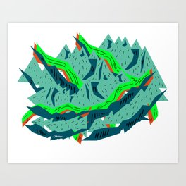 geometric design Art Print