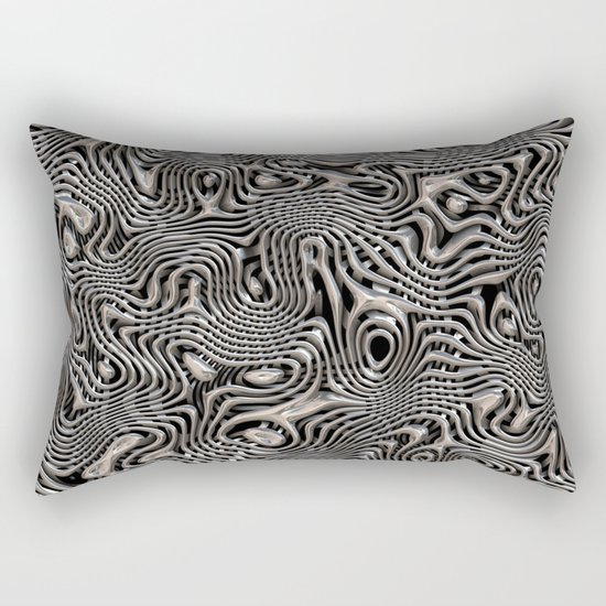 Chrome Chaos Rectangular Pillow