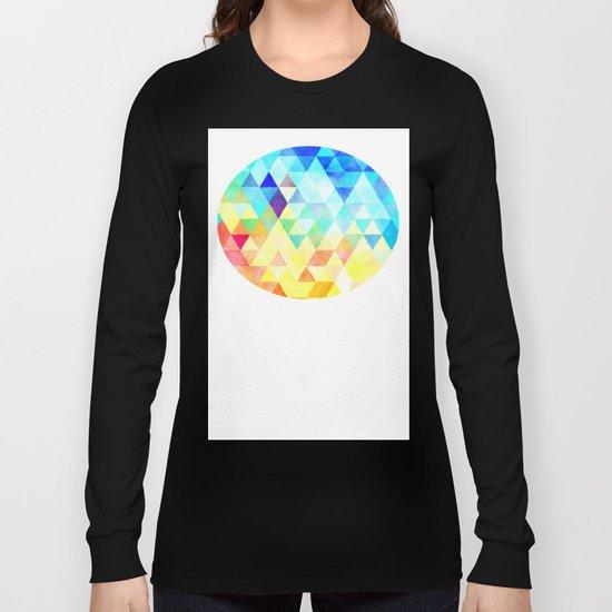 Vibrant Triangles Pattern 01 Long Sleeve T-shirt