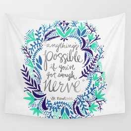 Anything's Possible – Silver & Blue Wall Tapestry
