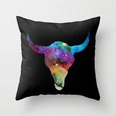 SPACE BULL Throw Pillow