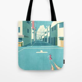 GIRL AT THE TOWN Tote Bag