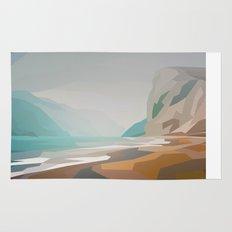 Cliffs - misty Rug