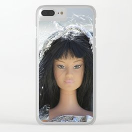 Silver Girl Clear iPhone Case