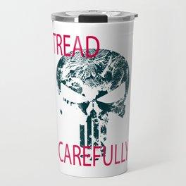 Tread Carefully Skull Travel Mug