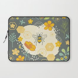 Little Bee and Buttercups Laptop Sleeve