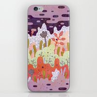 crystal iPhone & iPod Skins featuring Crystal Forest by LordofMasks